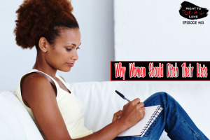 Woman writing a list of what she wants in a dream man