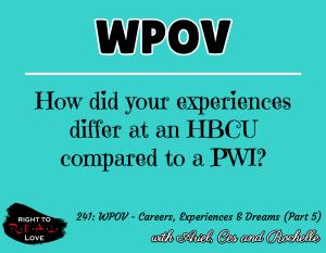 WPOV - Careers, Experiences & Dreams (Part 5)