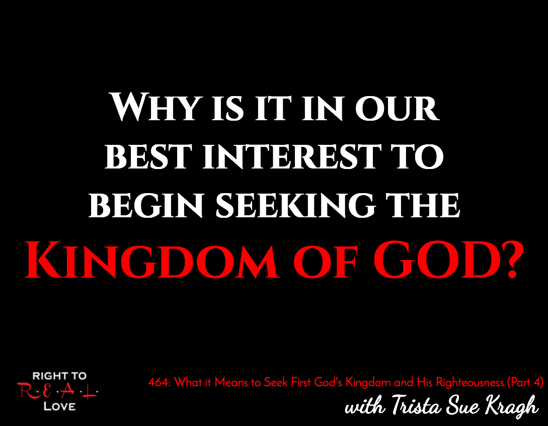 What it means to seek first god s kingdom and his righteousness part