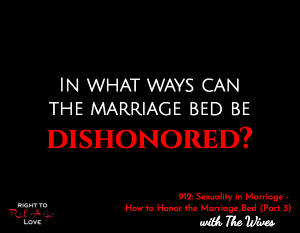 Sexuality in Marriage - How to Honor the Marriage Bed (Part 3)