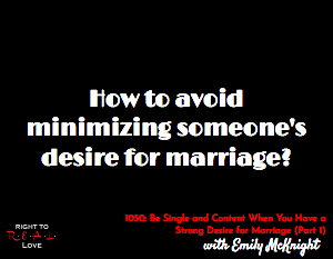 Be Single and Content When You Have a Strong Desire for Marriage (Part 1)