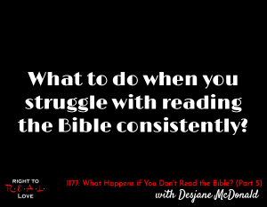 What Happens if You Don't Read the Bible? (Part 5)